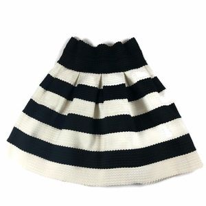 Girls From Savoy Skirt Striped Textured Anthro